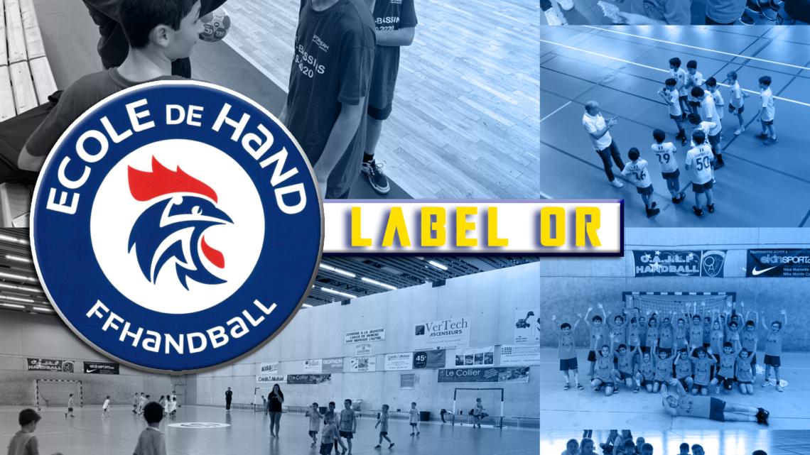 Nouveau Label Or pour l'école de handball